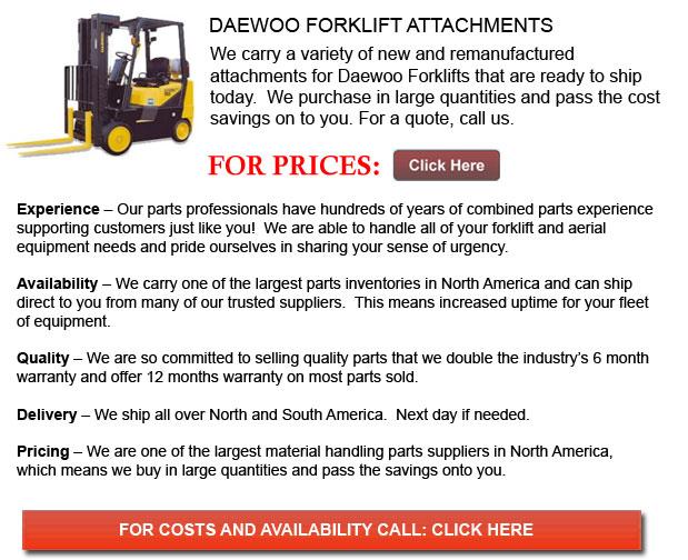 Daewoo Forklift Attachments