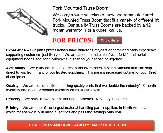 Fork Mounted Truss Booms