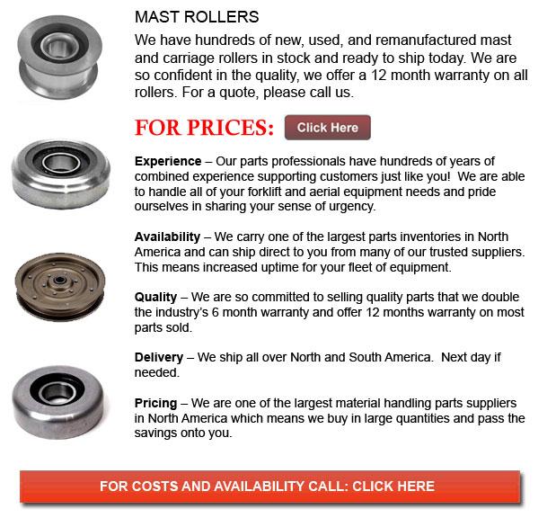 Forklift Mast Rollers