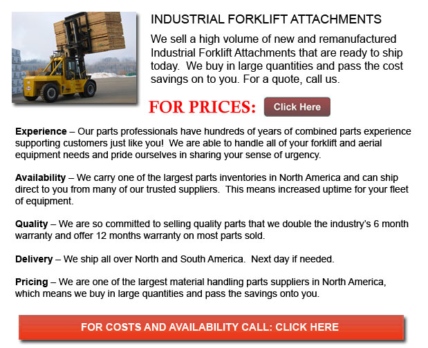 Attachments for Industrial Forklifts