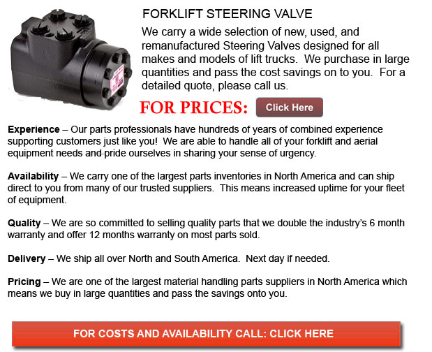 Steering Valves for Forklift