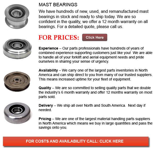 Forklift Mast Bearings