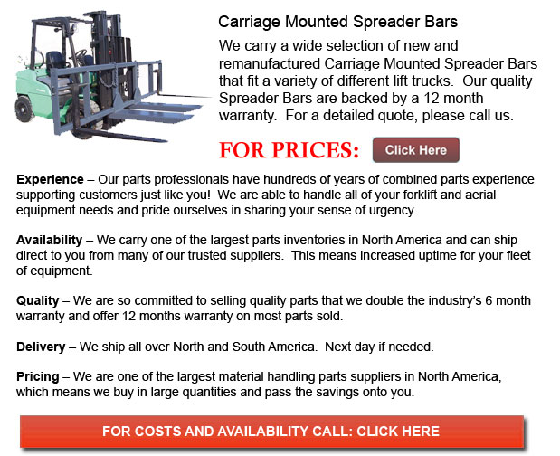 Carriage Mounted Spreader Bars