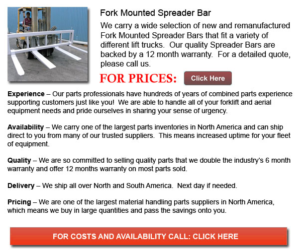 Fork Mounted Spreader Bars