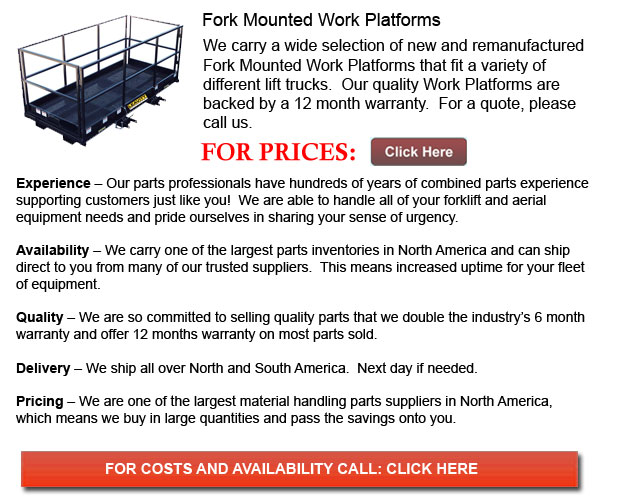 Fork Mounted Work Platforms