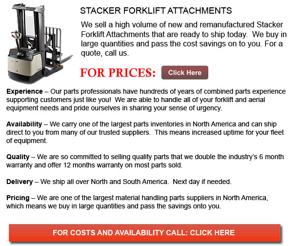 Attachments for Stacker Forklift