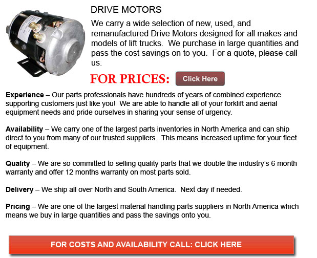 Drive Motor for Forklifts