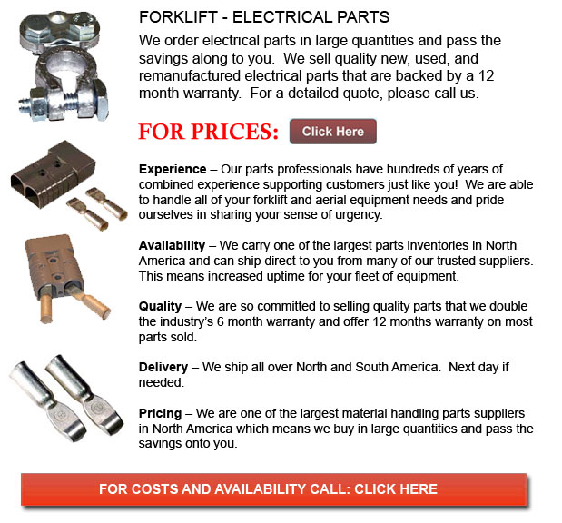 Electrical Parts for Forklifts