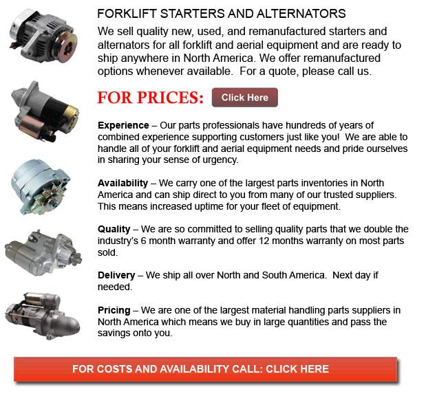 Forklift Alternators and Starters