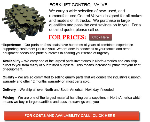 Control Valves for Forklift