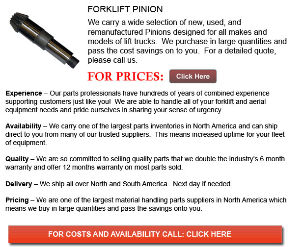 Pinion for Forklifts