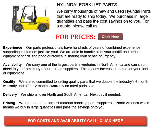 Hyundai Forklift Parts