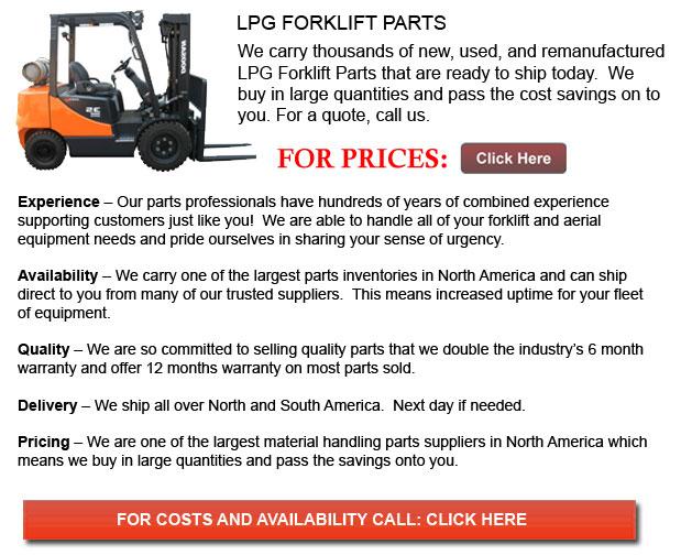 Parts for LPG Forklift