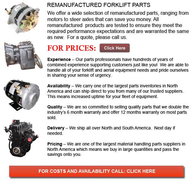 Remanufactured Lift Truck Parts