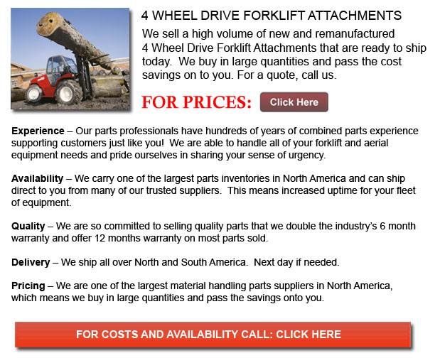 4 Wheel Drive Forklift Attachments