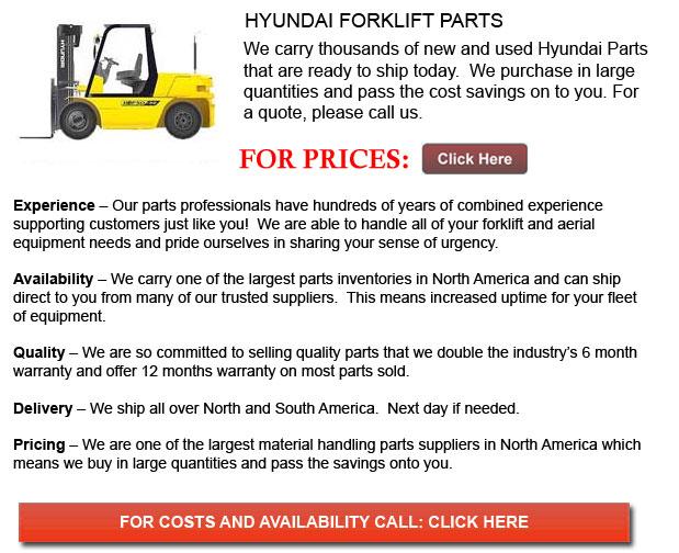 Hyundai Forklift Parts Huntington West Virginia