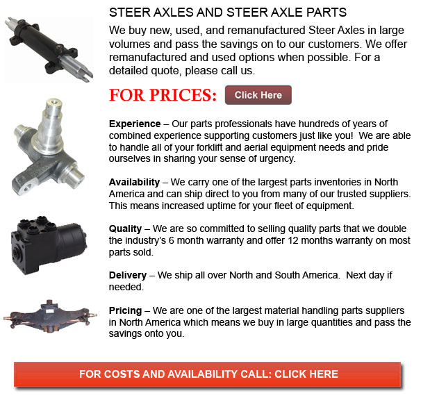 Steer Axles for Forklifts