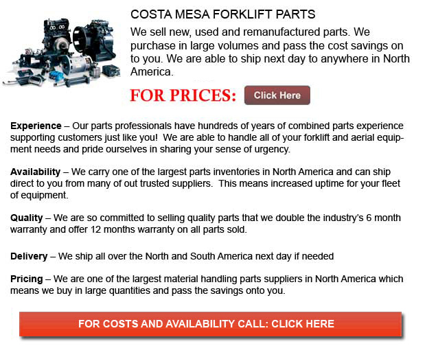 Costa Mesa Forklift Parts