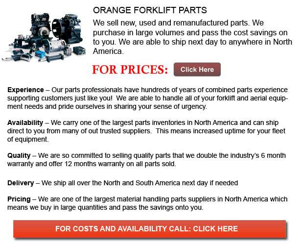 Orange Forklift Parts