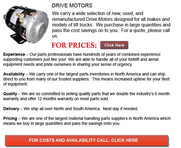 Drive Motor for Forklifts