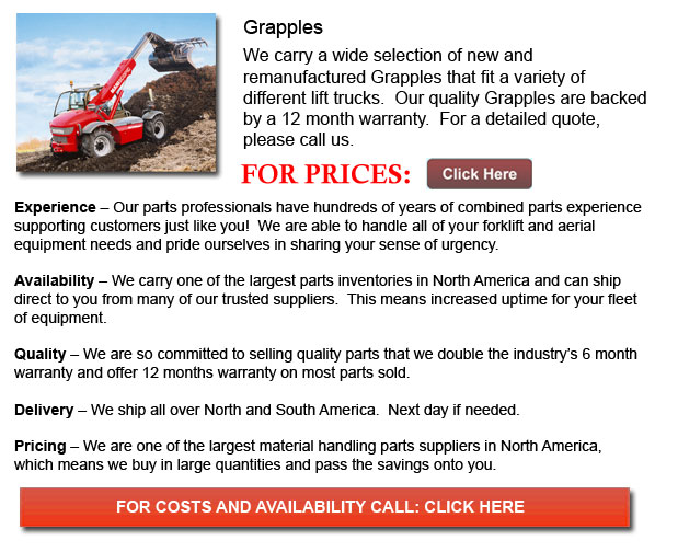 Grapple for Forklift