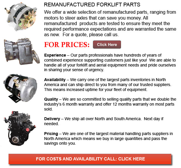 Remanufactured Lift Truck Parts