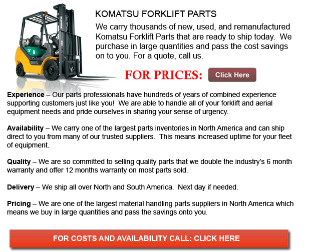 Komatsu Forklift Parts | Houston Texas