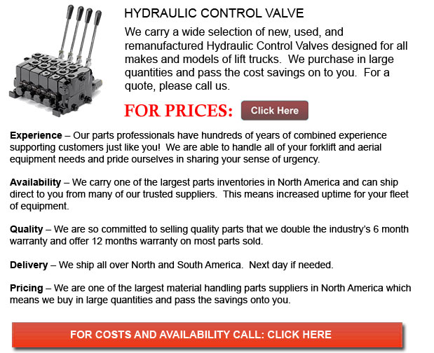 Hyster Hydraulic Control Valve