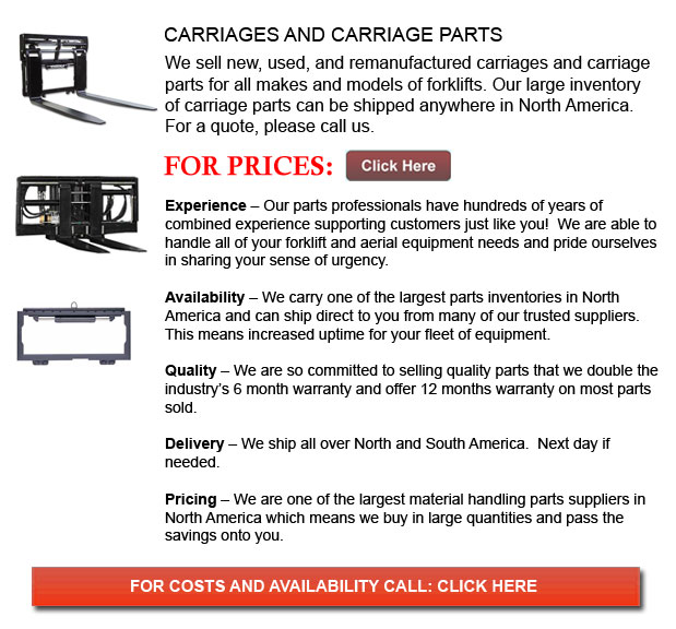 Carriages and Carriage Parts