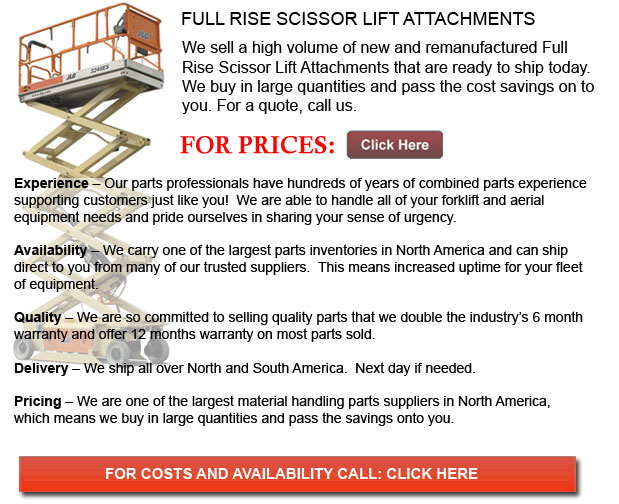 Full Rise Scissor Lift Attachments