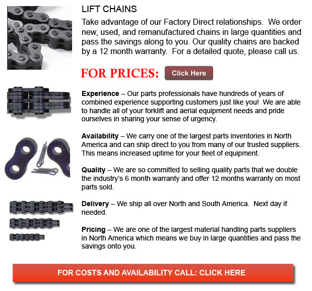 Chains for Forklifts