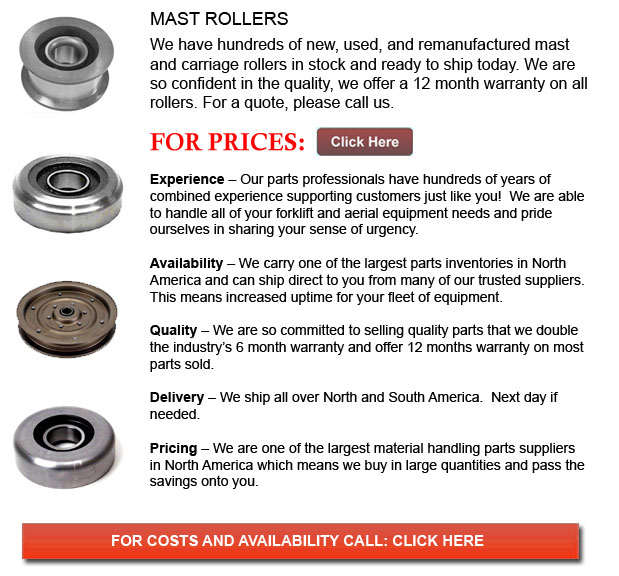 Mast Rollers for Forklift