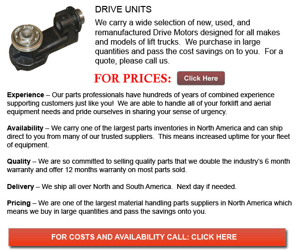 Drive Unit for Forklifts