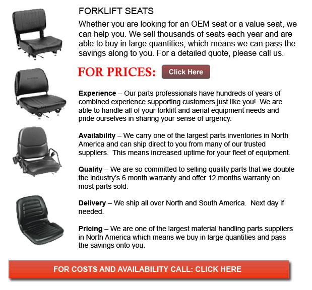 Seats for Forklift