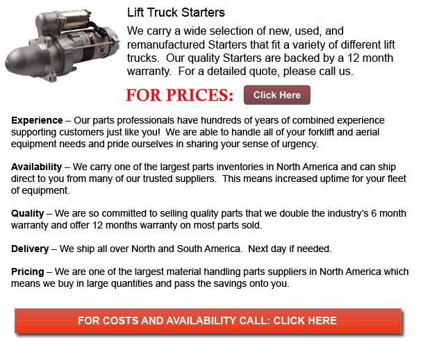 Starters for Forklifts