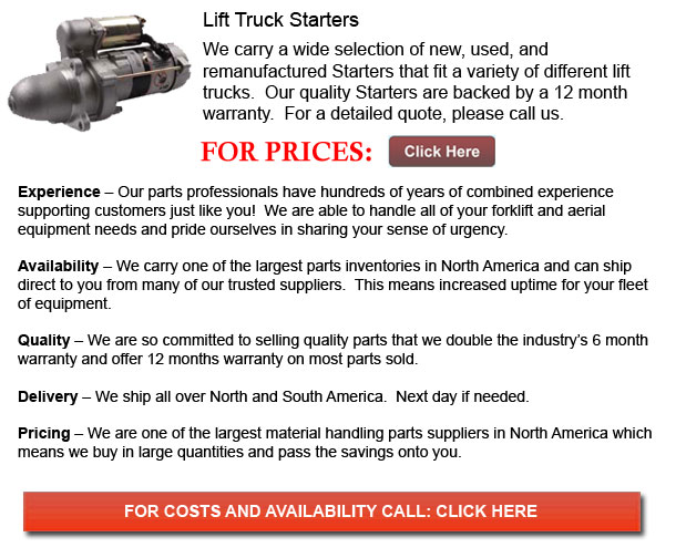 Starters for Forklift
