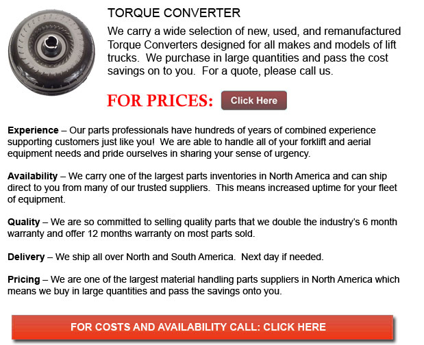 Torque Converters for Forklifts