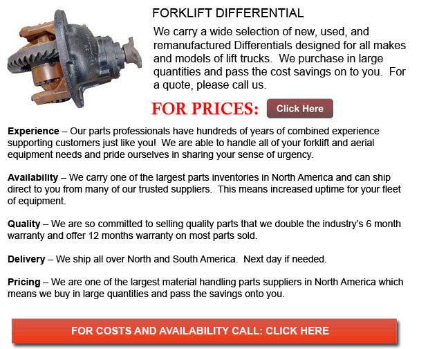 Forklift Differentials