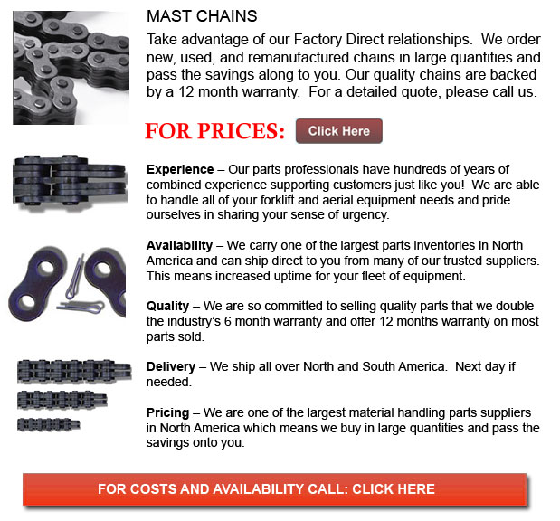 Forklift Mast Chains