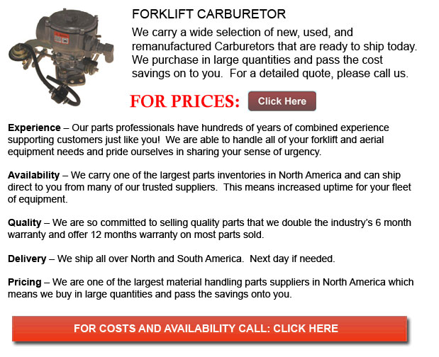 Carburetors for Forklifts