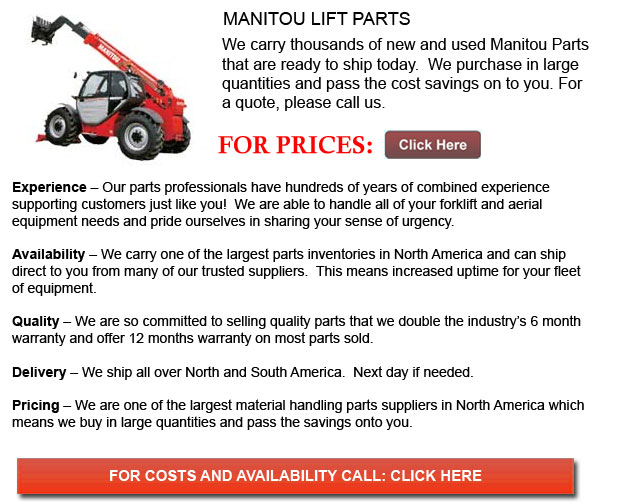 Manitou Forklift Parts