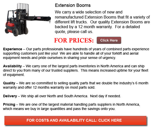 Extension Booms for Forklift