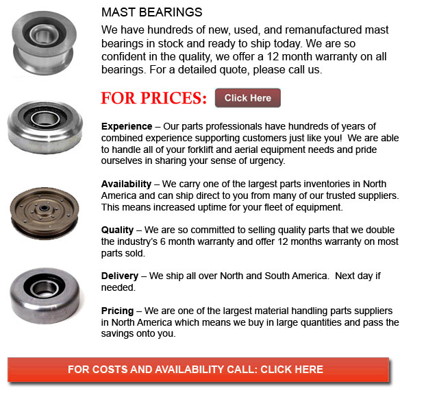Forklift Mast Bearing