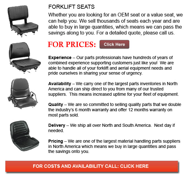 Seats for Forklift