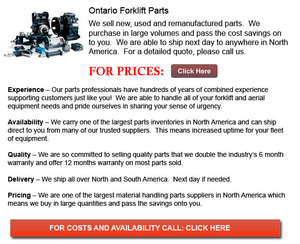 Ontario Forklift Parts