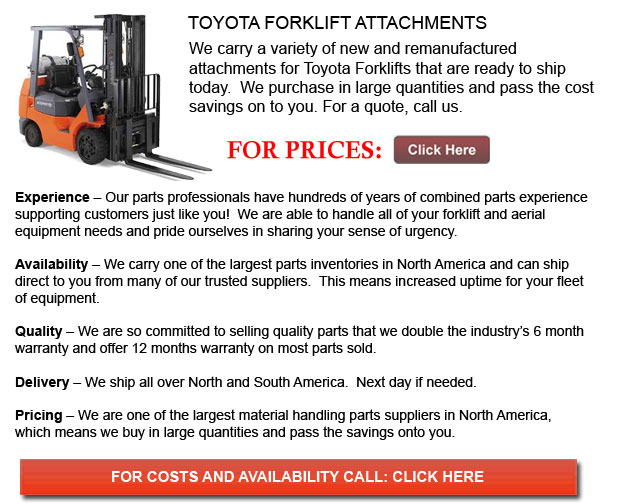 Toyota Forklift Attachments
