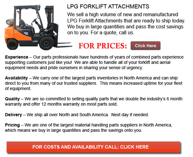 Attachments for LPG Forklifts