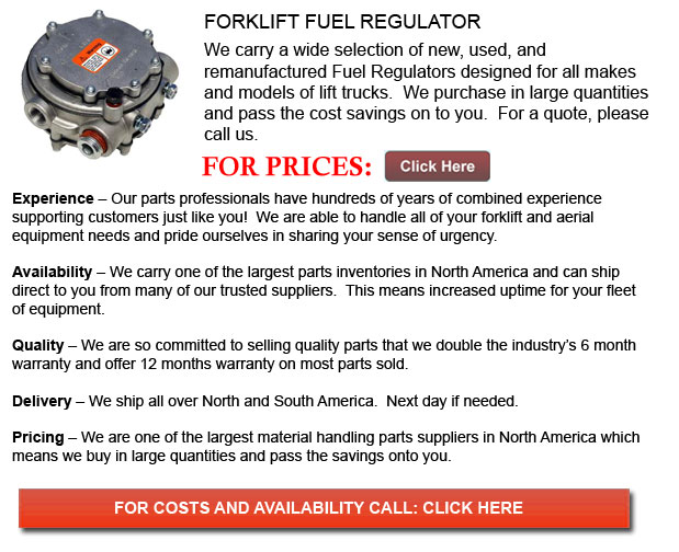 Forklift Fuel Regulators