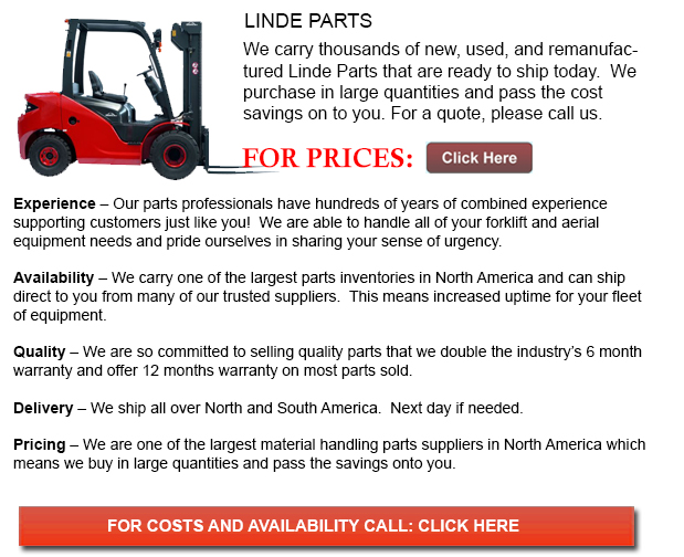 Linde Forklift Parts