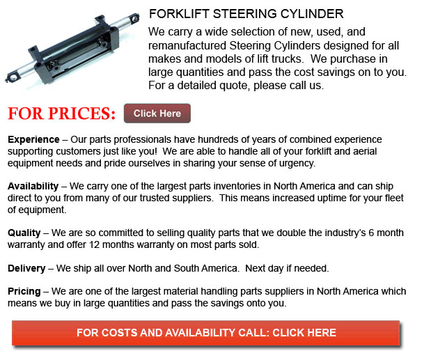 Steering Cylinders for Forklift